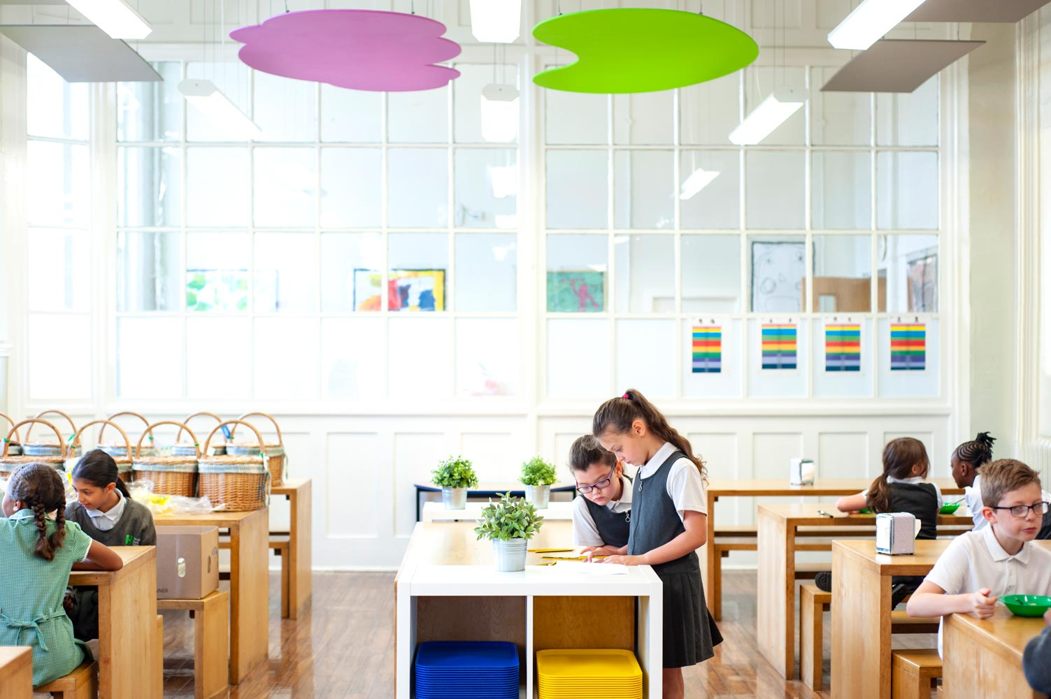 Primary school dinner hall photograph for website and prospectus
