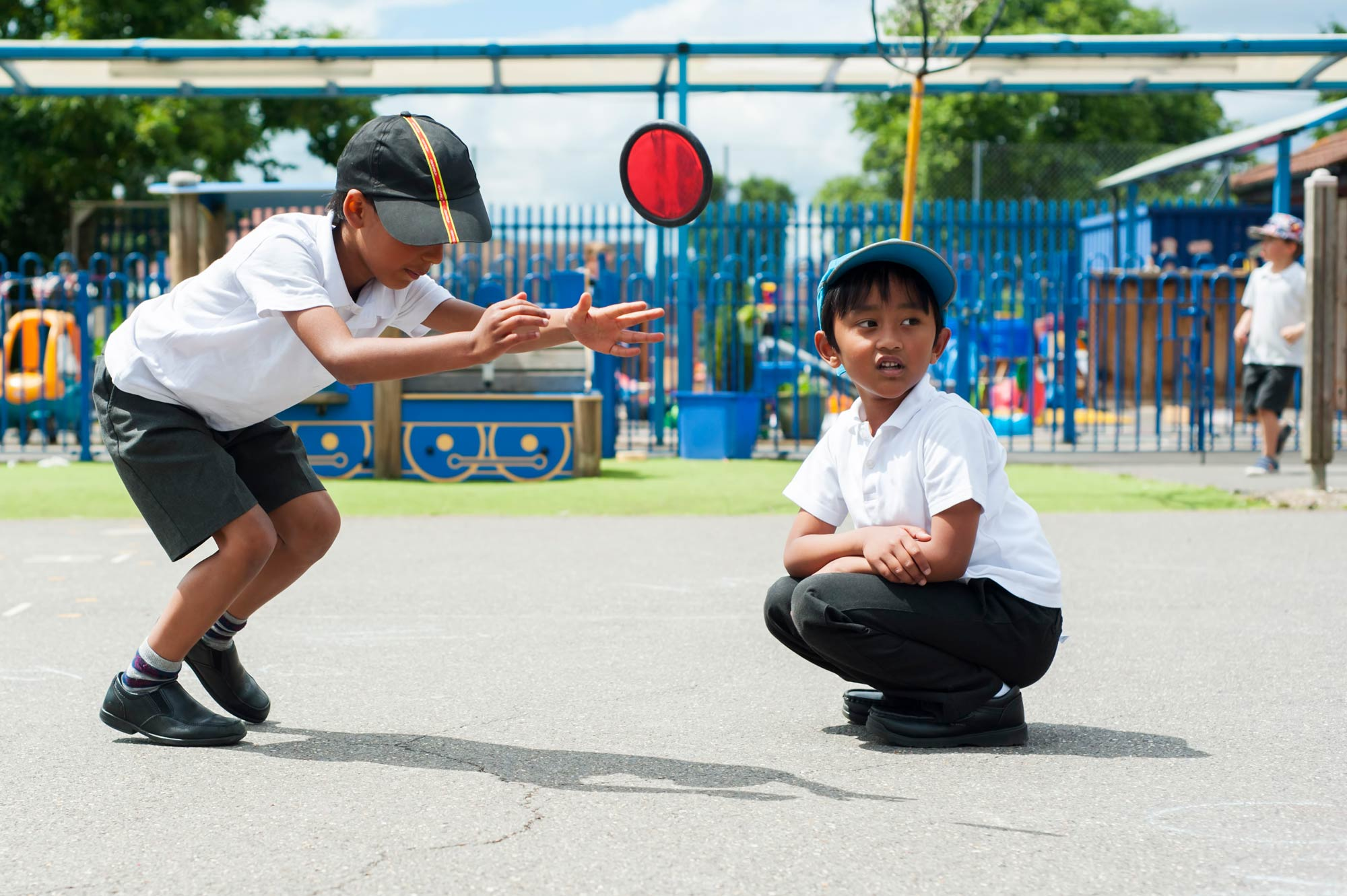 School pupils in the playground