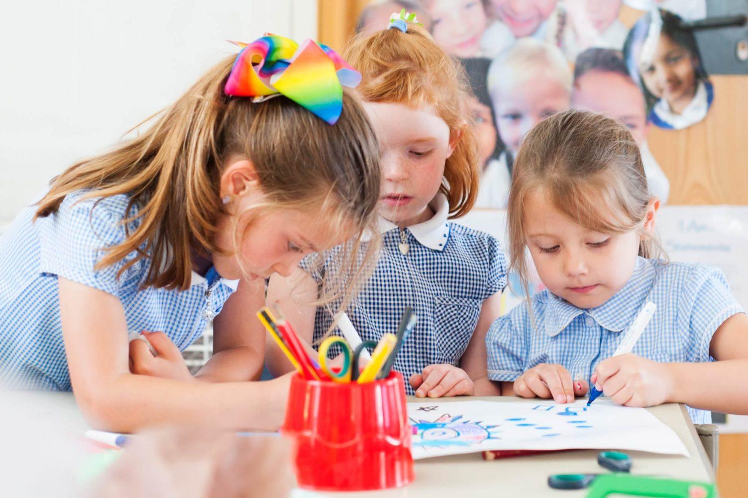 South London school photography of pupils at Beddington Infants school