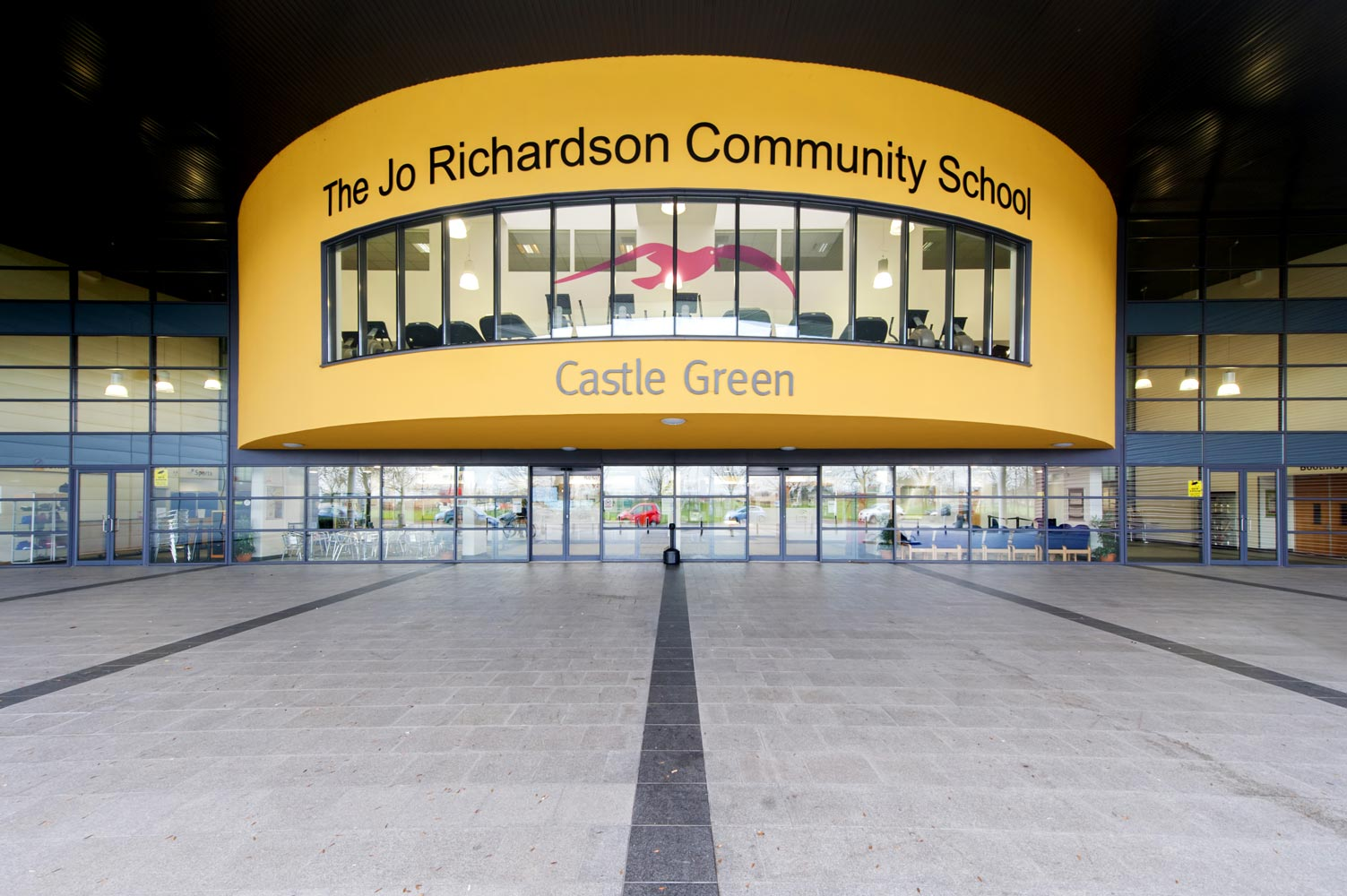 Award winning school photography of Jo Richardson Community School building