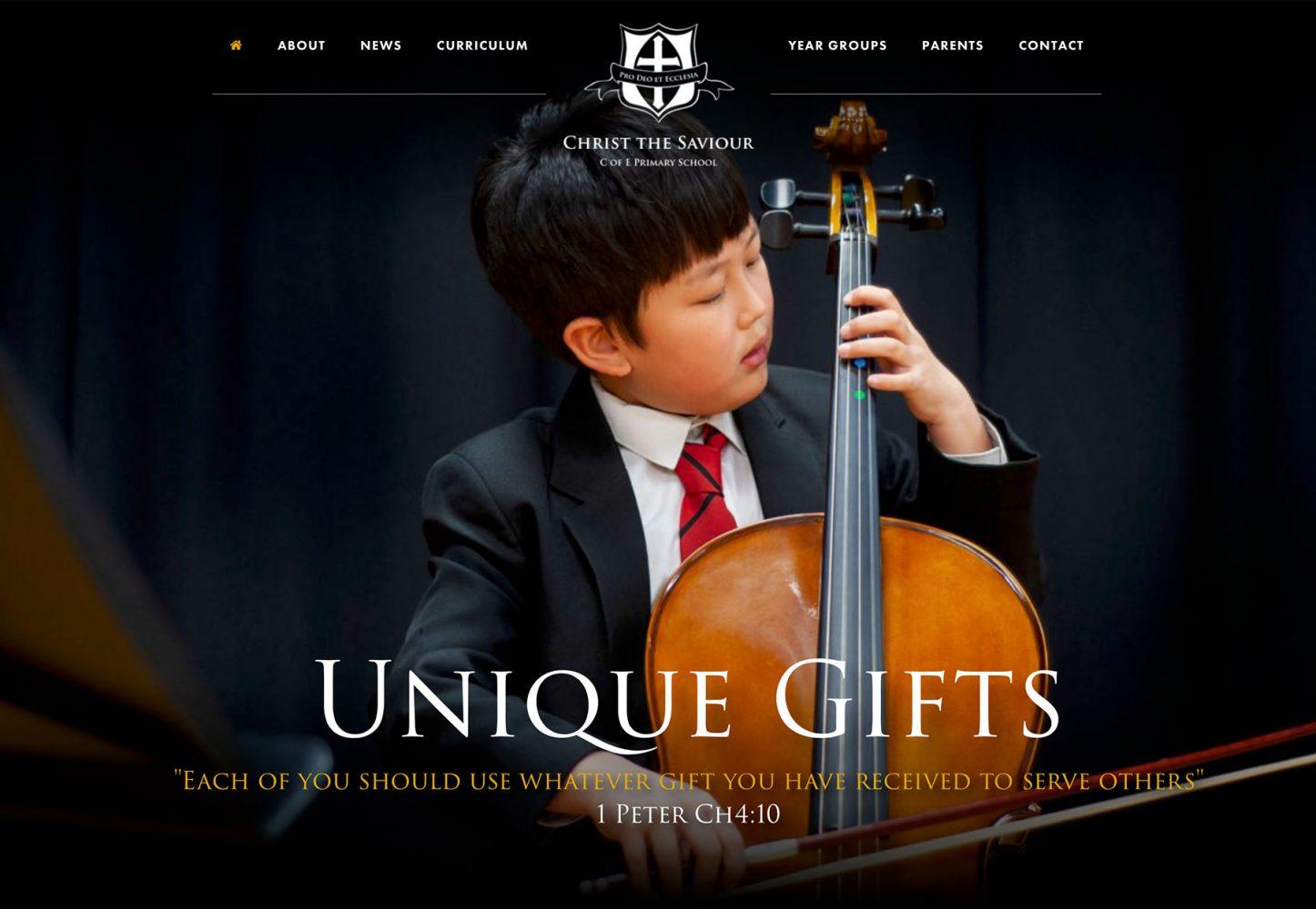 Christ the Saviour School website homepage photograph