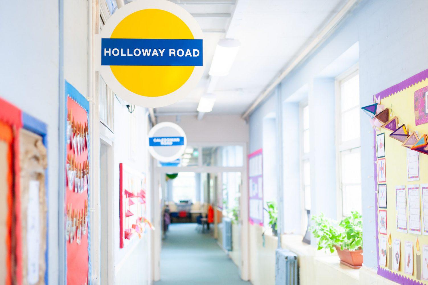 Primary school corridor